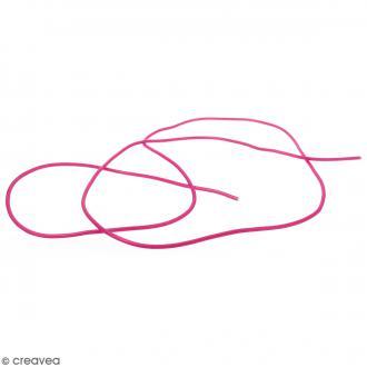 Cable PVC Creux 3 mm Buna Rose fuchsia - Au mètre (sur mesure)