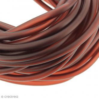 Cable PVC creux  5 mm Buna Rouge bordeaux - Au mètre (sur mesure)