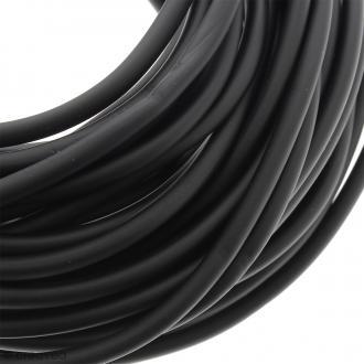 Cable PVC creux 5 mm Buna Noir mat - Au mètre (sur mesure)