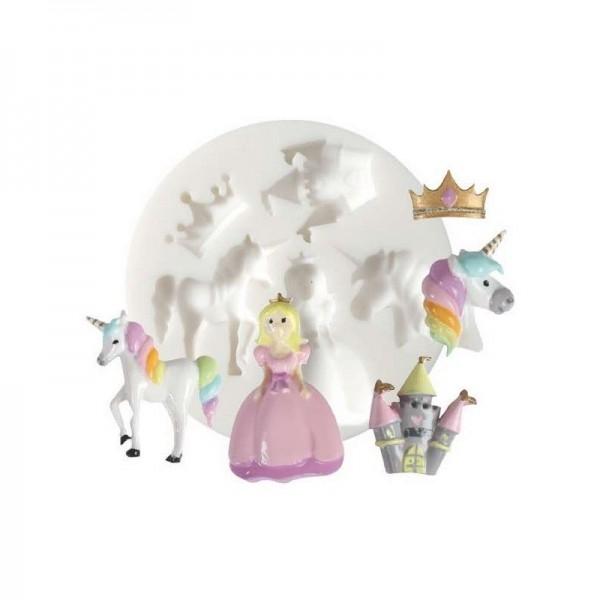 1 Mini Moule en Silicone Licorne Princesse Creations Fimo DTM ref 284454 - Photo n°1