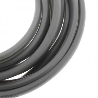 Cable PVC fendu - Buna cord - Gris mat - 9 x 6 mm - Au mètre (sur mesure)