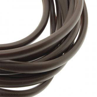 Cable PVC fendu - Buna cord - Marron - 9 x 6 mm - Au mètre (sur mesure)