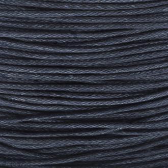 Fil de coton ciré - Bleu marine - 1 mm - 100 m