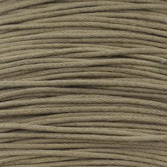 Fil de coton ciré - Marron café - 1 mm - 100 m
