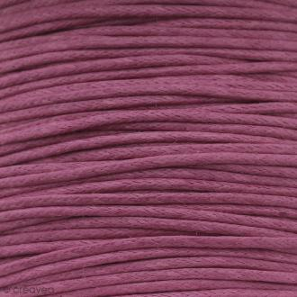 Fil de coton ciré - Rose fuchsia - 1 mm - 100 m