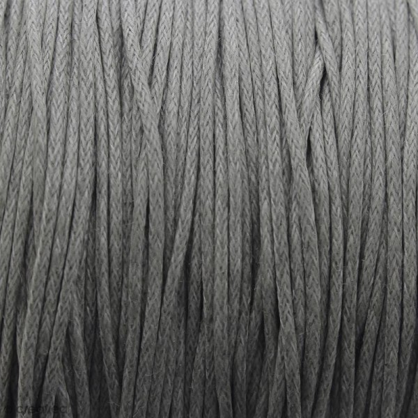 Fil de coton ciré - Gris clair - 1 mm - 100 m - Photo n°1