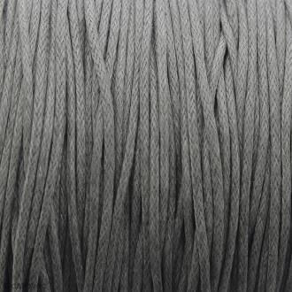 Fil de coton ciré - Gris clair - 1 mm - 100 m
