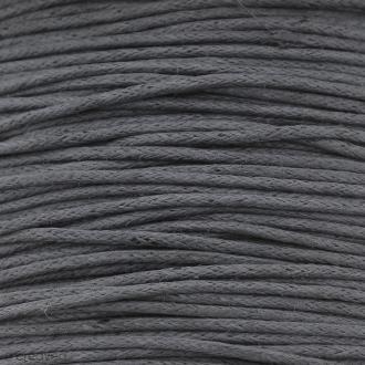 Fil de coton ciré - Gris foncé - 1 mm - 100 m