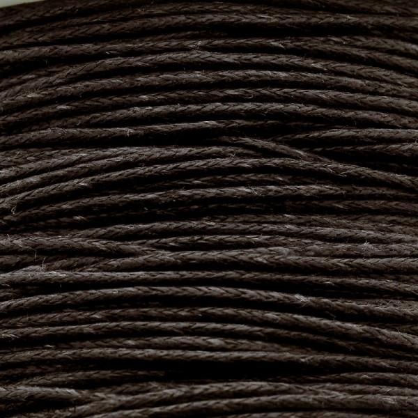 Fil de coton ciré - Marron foncé - 1 mm - 100 m - Photo n°1