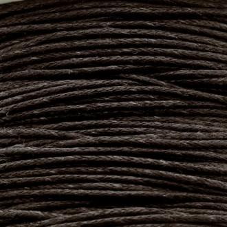 Fil de coton ciré - Marron foncé - 1 mm - 100 m