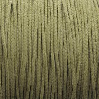 Fil de coton ciré - Jaune ocre - 1 mm - 100 m
