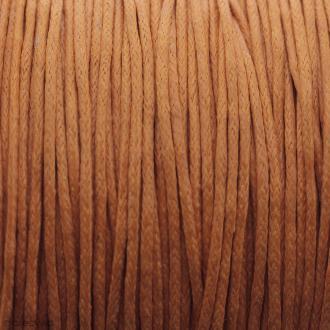 Fil de coton ciré - Orange - 1 mm - 100 m