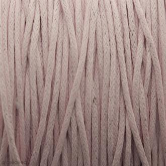 Fil de coton ciré - Rose clair - 1 mm - 100 m