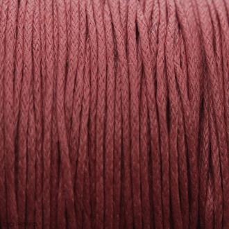 Fil de coton ciré - Rouge - 1 mm - 100 m