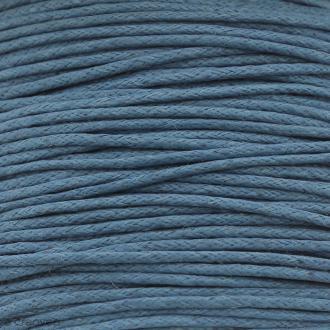 Fil de coton ciré - Bleu turquoise - 1 mm - 100 m