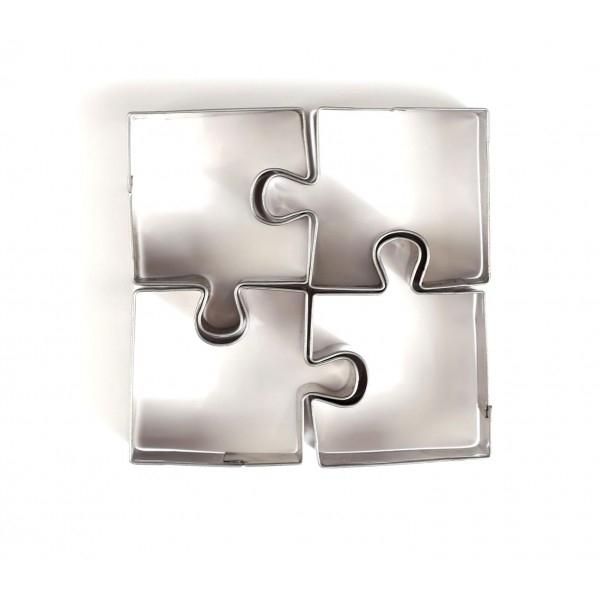 Lot de 4 emporte-pièces en Inox Puzzle Graine Créative265068 - Photo n°1