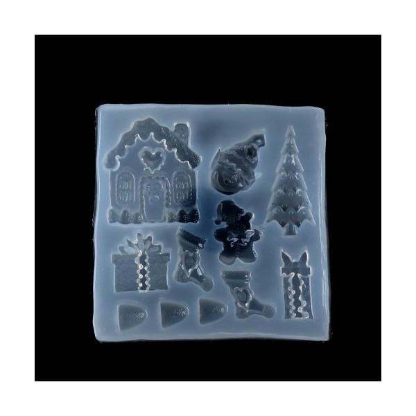 S119421 PAX 1 Moule en Silicone Motifs de Noel pour Creation Fimo Cernit Resine - Photo n°1