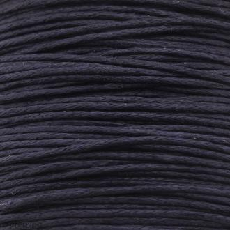 Fil de coton ciré - Violet foncé - 1 mm - 100 m