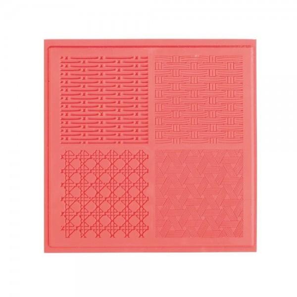 Tapis de Texture Vannerie 9cm pour Pate Fimo, Sculpey Cernit Graine Créative 265403 - Photo n°1