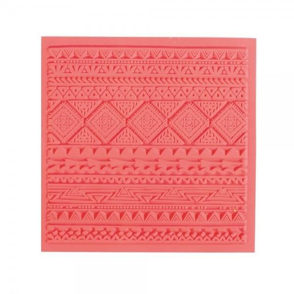 Tapis de Texture Ethnique 9cm pour Pate Fimo, Sculpey Cernit Graine Créative 265402 - Photo n°1
