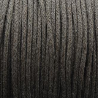 Fil de coton ciré - Marron brun - 2 mm - 100 m