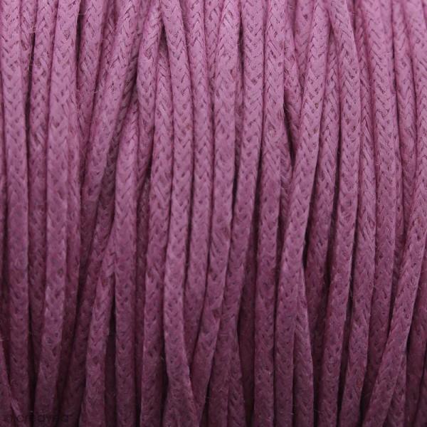 Fil de coton ciré - Rose fuchsia - 2 mm - 100 m - Photo n°1