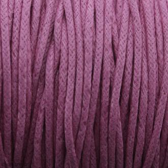 Fil de coton ciré - Rose fuchsia - 2 mm - 100 m