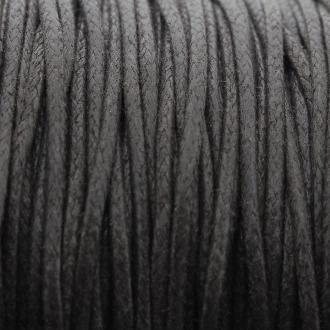 Fil de coton ciré - Marron foncé - 2 mm - 100 m