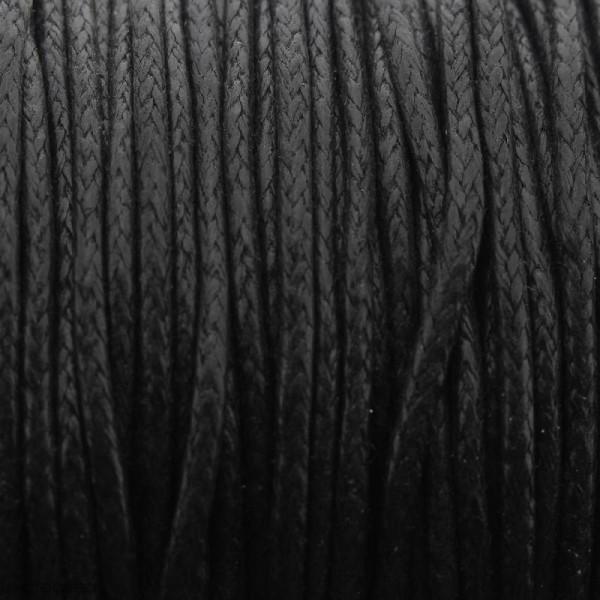 Fil de coton ciré - Noir - 2 mm - 100 m - Photo n°1