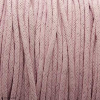Fil de coton ciré - Rose clair - 2 mm - 100 m