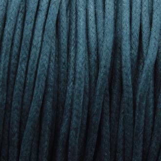 Fil de coton ciré - Bleu turquoise - 2 mm - 100 m