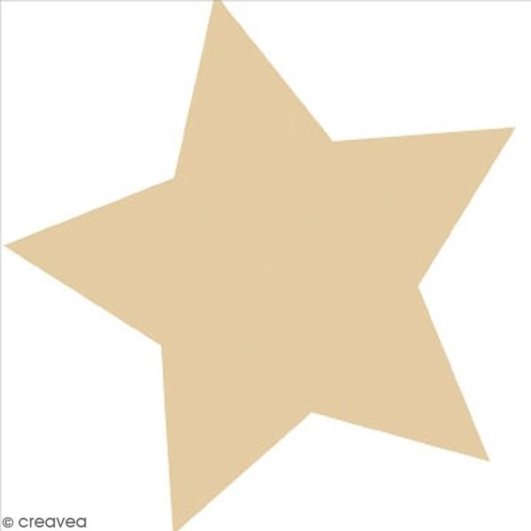Serviette en papier 25 x 25 cm - Etoile dorée - 20 pcs - Photo n°1