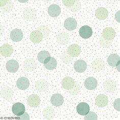 Serviette en papier 33 x 33 cm - Confettis verts et dorés - 20 pcs