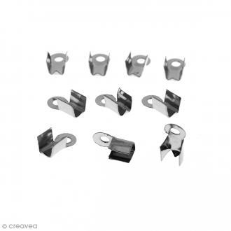 Embouts pince-lacets - 2 mm - Argent vieilli - 10 pcs