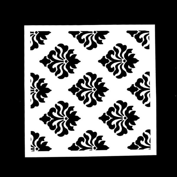 POCHOIR PLASTIQUE 13*13cm : motif antique (06) - Photo n°1