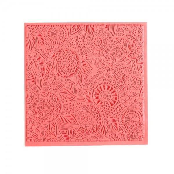 Tapis de Texture Floral 9cm pour Pate Fimo, Sculpey Cernit Graine Créative 265400 - Photo n°1
