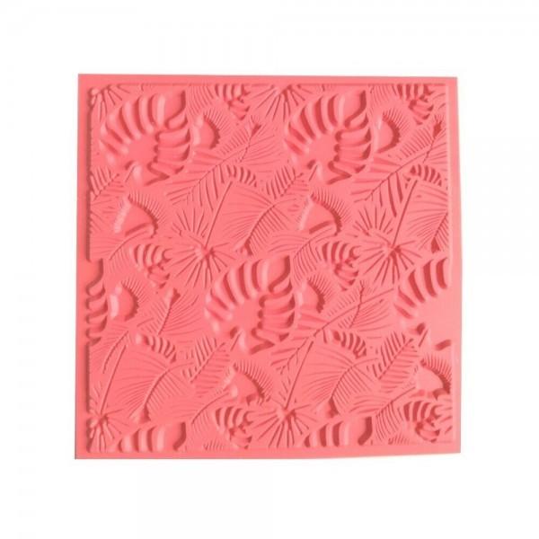 Tapis de Texture Feuillage 9cm pour Pate Fimo, Sculpey Cernit Graine Créative 265401 - Photo n°1