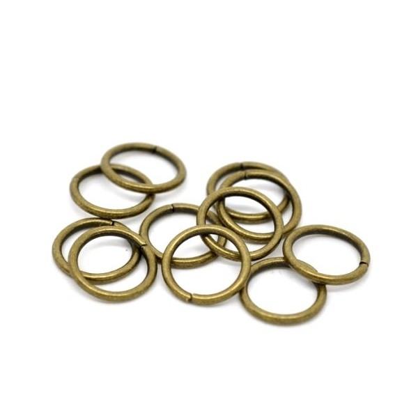 PAX 1000 anneaux de jonction 8mm par 0,9mm métal couleur Bronze - Photo n°1
