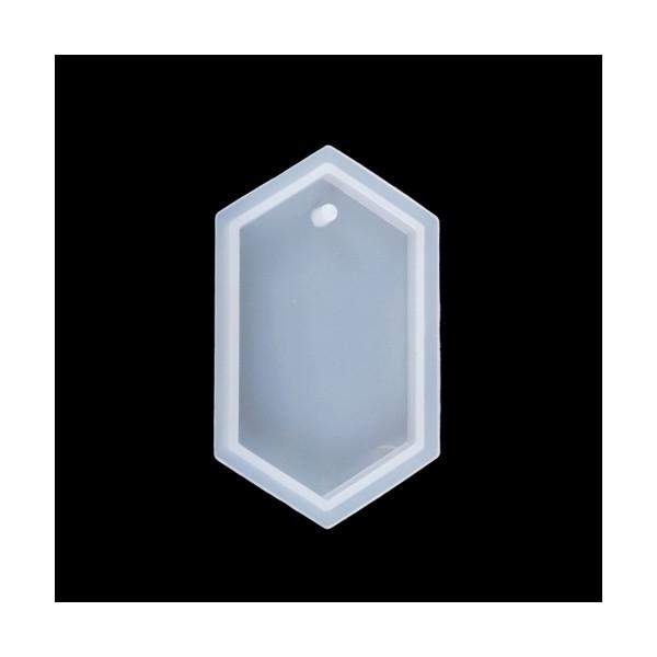S11103424 PAX 1 Moule en Silicone Hexagone 7cm pour Creation Fimo Cernit Resine - Photo n°1