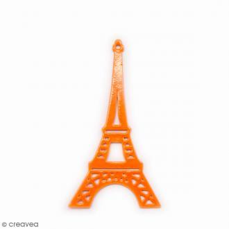 Estampe métal Tour Eiffel Orange - 38 mm