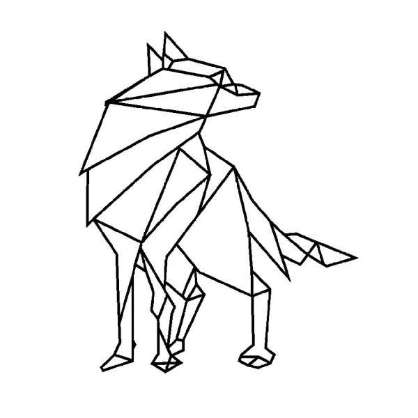 Flex Thermocollant Loup Géométrique - Photo n°1