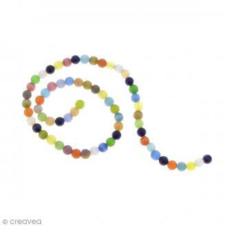 Perles oeil de chat - Multicolore - 6 mm - 64 perles