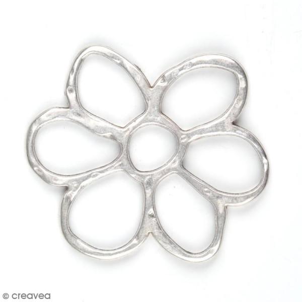 Breloque intercalaire métal Grande fleur - 40 mm - Photo n°1