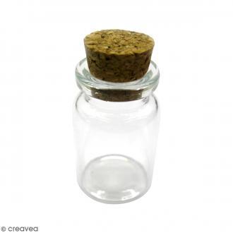 Flacon en verre avec bouchon liège - 33 x 22 mm