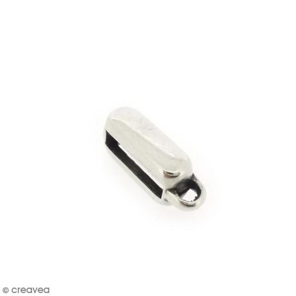 Perle bélière coulissante pour ruban - 16 mm - Photo n°1