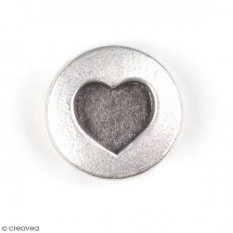 Perle coulissante Coeur pour ruban - 18 mm