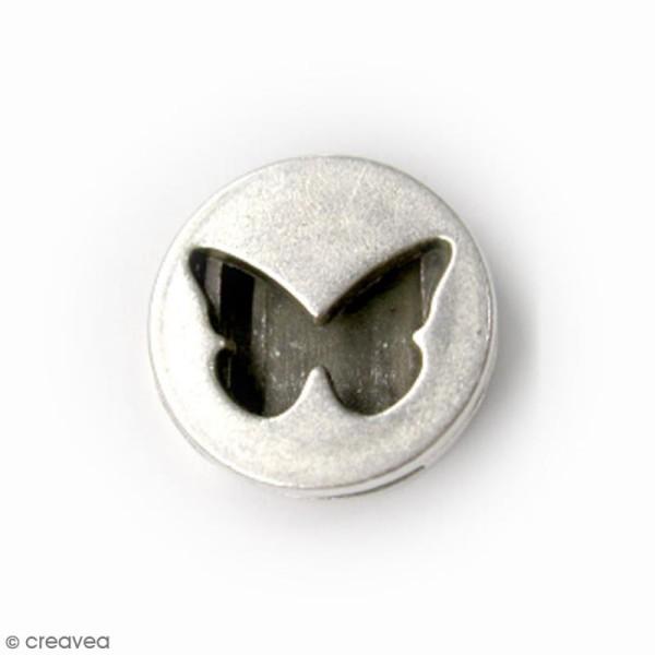 Perle coulissante Papillon pour ruban - 18 mm - Photo n°1