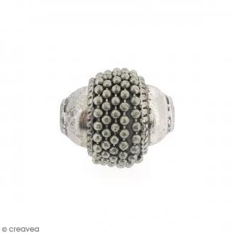 Perle indonésienne ovale - Gris argenté - 15 x 12 mm