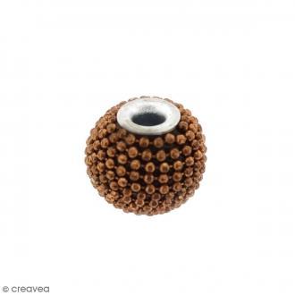 Perle indonésienne ronde - Marron - 15 mm