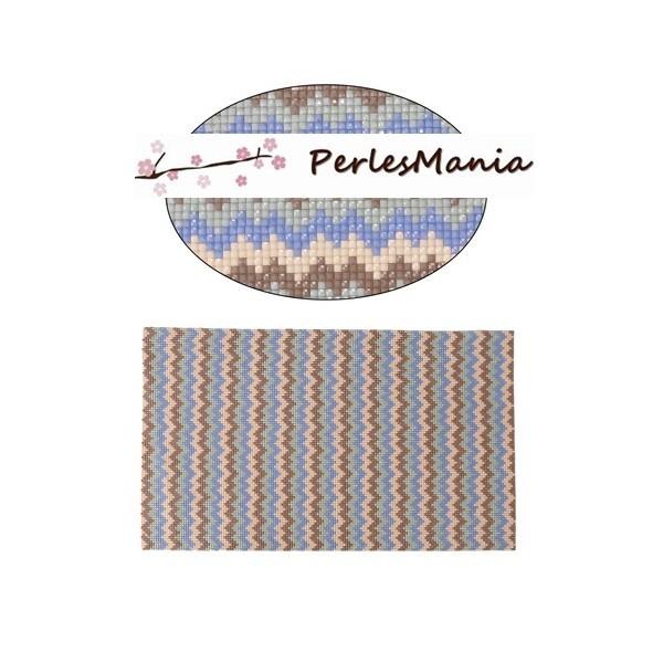 PS11106265 1 feuille adhésive Hotfix en resine facettée type chevron 20 par 23.5cm - Photo n°1